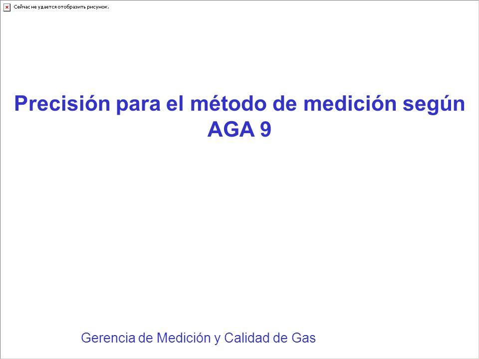 Gerencia de Medición y Calidad de Gas Precisión para el método de medición según AGA 9