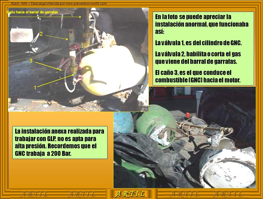 A R T I L Autor: Artil – Descarga ofrecida por www.prevention-world.com En la foto se puede apreciar la instalación anormal, que funcionaba así: La vá