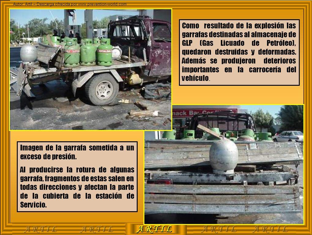 A R T I L Autor: Artil – Descarga ofrecida por www.prevention-world.com Como resultado de la explosión las garrafas destinadas al almacenaje de GLP (G