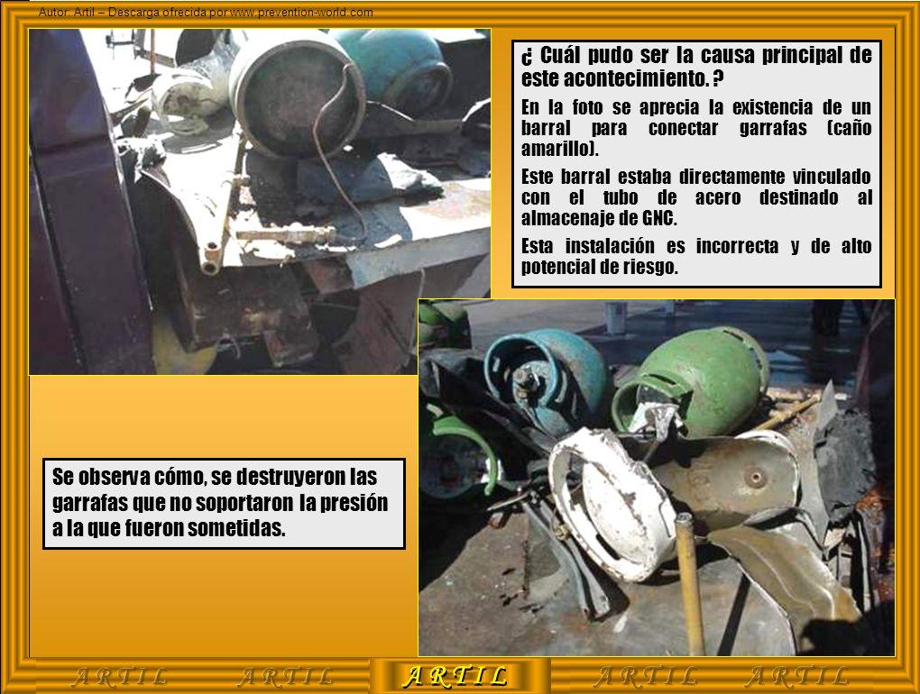 A R T I L Autor: Artil – Descarga ofrecida por www.prevention-world.com ¿ Cuál pudo ser la causa principal de este acontecimiento. ? En la foto se apr