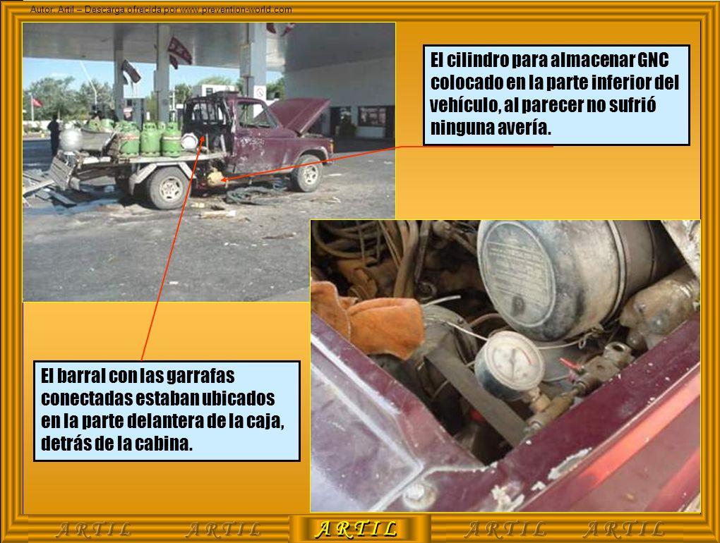 A R T I L Autor: Artil – Descarga ofrecida por www.prevention-world.com El cilindro para almacenar GNC colocado en la parte inferior del vehículo, al