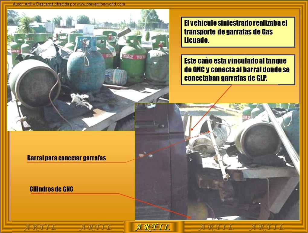 A R T I L Autor: Artil – Descarga ofrecida por www.prevention-world.com El vehículo siniestrado realizaba el transporte de garrafas de Gas Licuado. Es