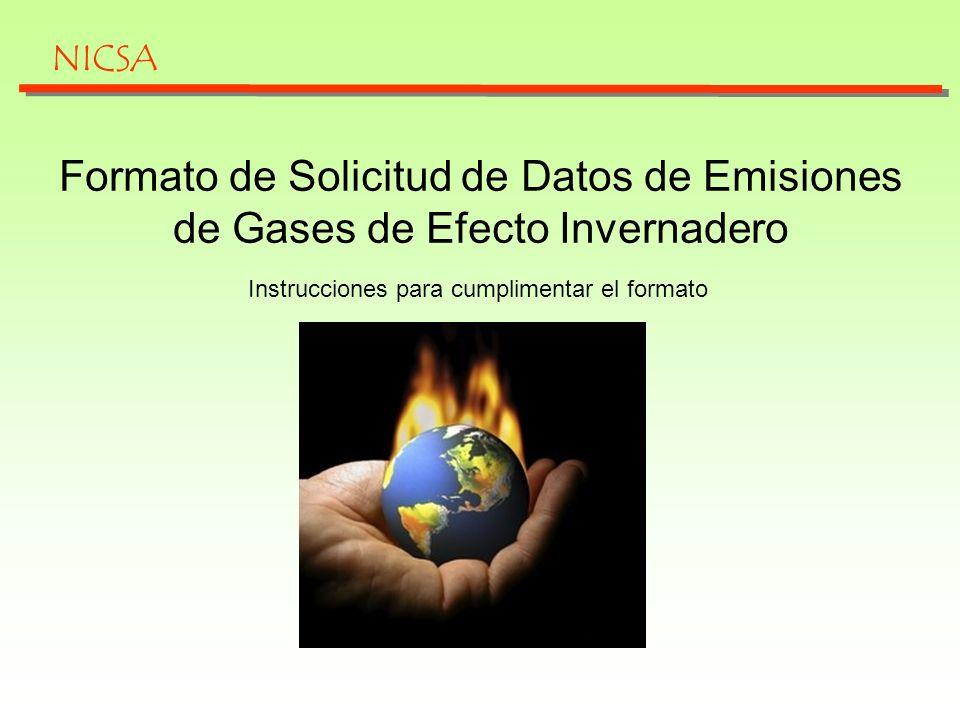 Cuestiones iniciales El formato de solicitud de datos sobre Gases Efecto Invernadero tiene como objetivo que los subcontratistas de Nicsa aporten datos sobre las emisiones producidas durante todo el ciclo de vida de los productos suministrados con el fin de que podamos elaborar un Inventario de Emisiones de Gases Efecto Invernadero en las sociedades pertenecientes a Abengoa.