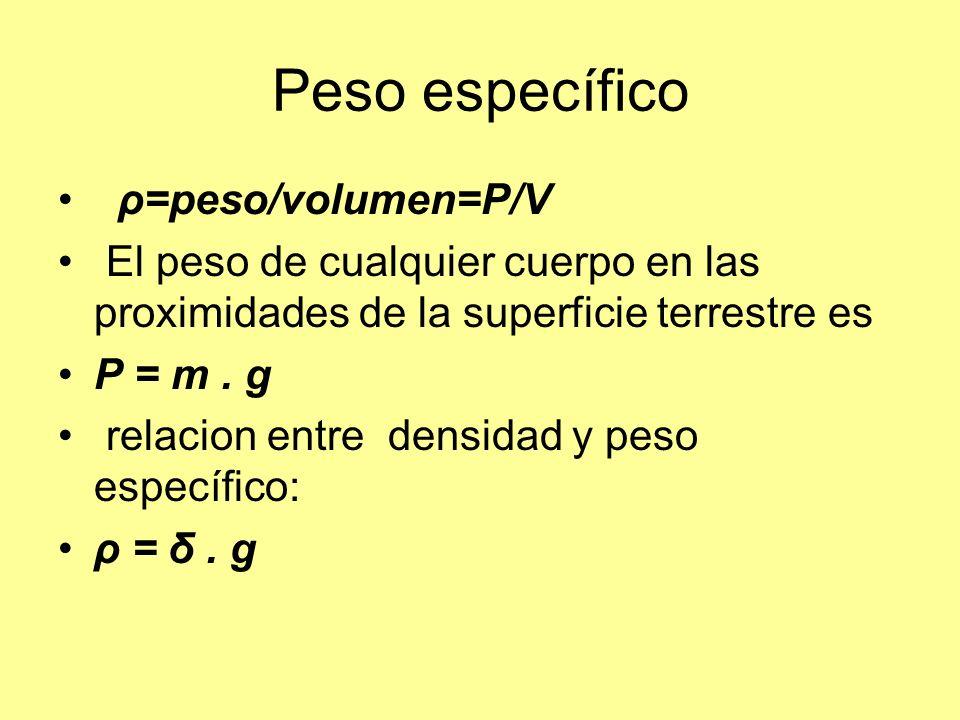 PRESIÓN En los fluidos las fuerzas que intervienen actúan: en forma perpendicular en el interior de los a las superficies mismos La presión es el cociente entre la intensidad de la fuerza normal F ( perpendicular a la superficie) y el área (S) de dicha superficie.