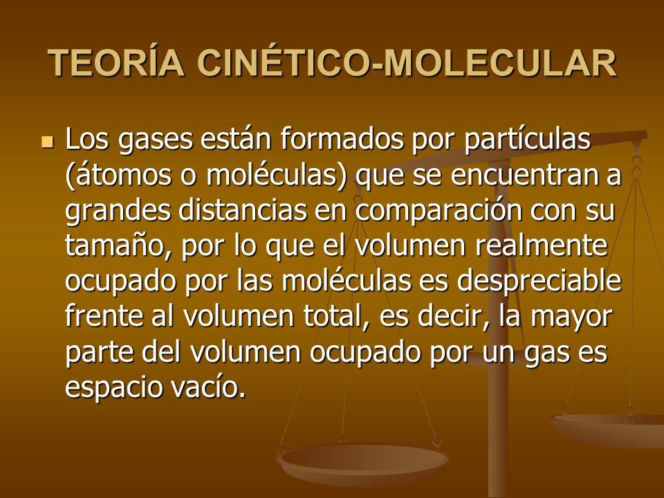TEORÍA CINÉTICO-MOLECULAR En 1.857, el físico alemán R. Clausius desarrolló un modelo que pretendía explicar la naturaleza de la materia y reproducir