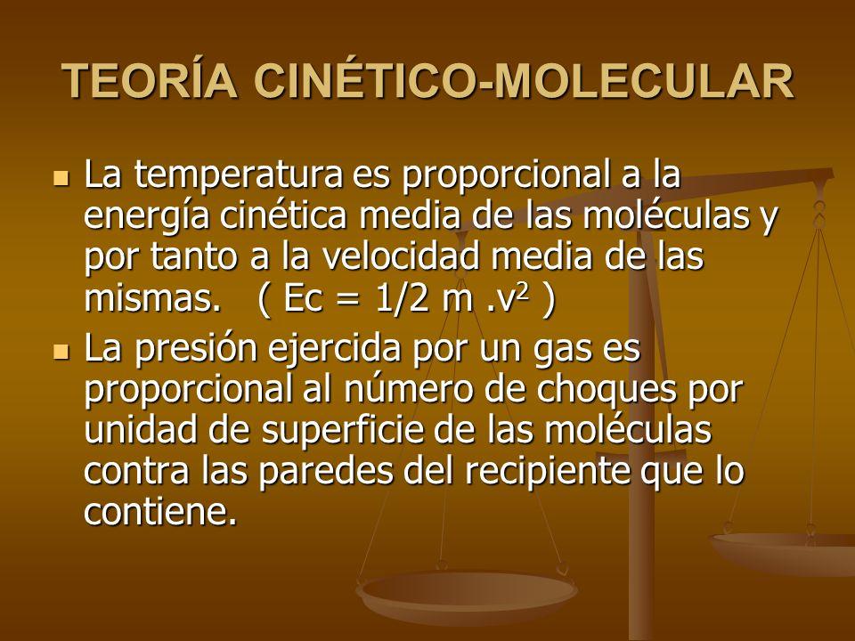 Las moléculas están en un continuo movimiento aleatorio.
