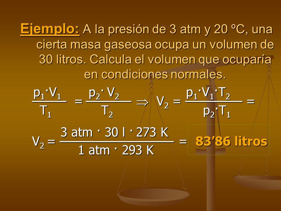 Un recipiente contiene inicialmente una determinada cantidad de gas, en las condiciones P 0, V 0 y T 0. Un recipiente contiene inicialmente una determ