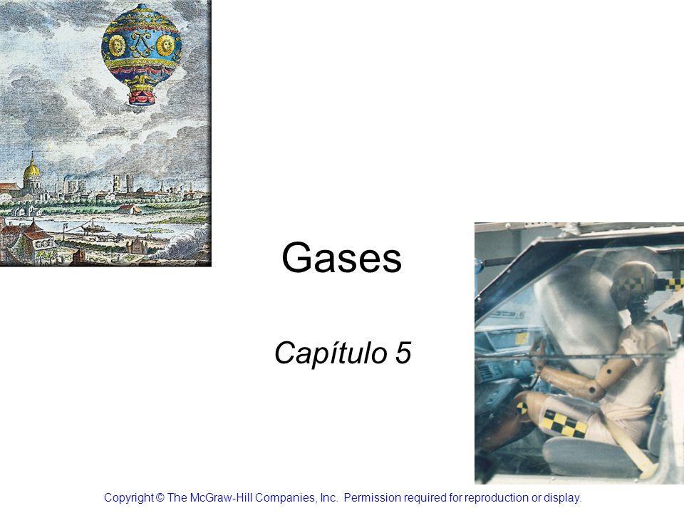 Variación del volumen de gas con la temperatura a presión constante 5.3 V T V = constante x T V 1 /T 1 = V 2 /T 2 T (K) = t ( 0 C) + 273.15 Ley de Charles y Gay-Lussac La temperatura será en escala Kelvin