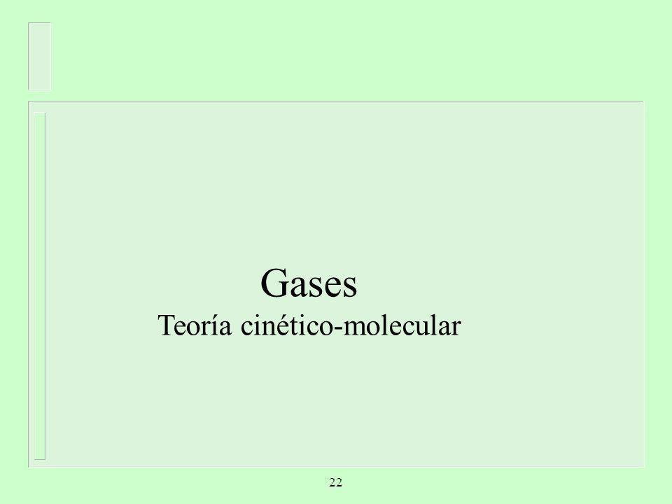 Gases Teoría cinético-molecular 22