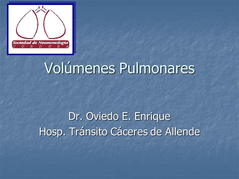 Volúmenes Pulmonares Dr. Oviedo E. Enrique Hosp. Tránsito Cáceres de Allende