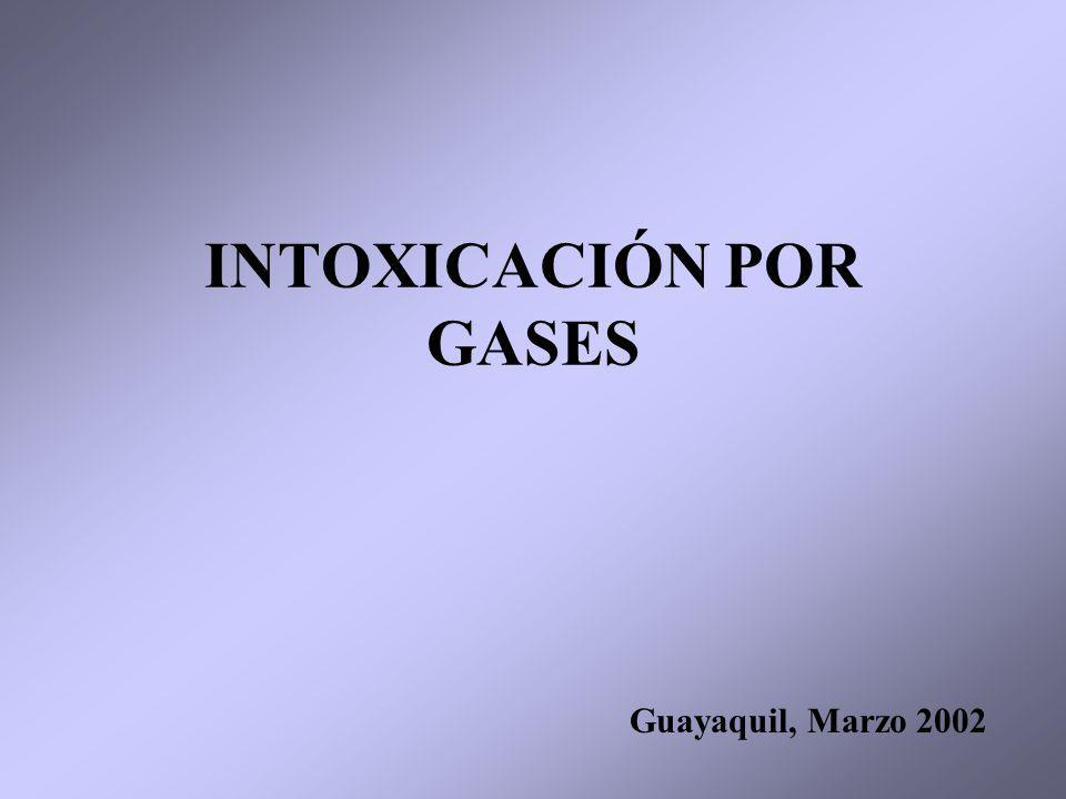 INTOXICACIÓN POR GASES Guayaquil, Marzo 2002