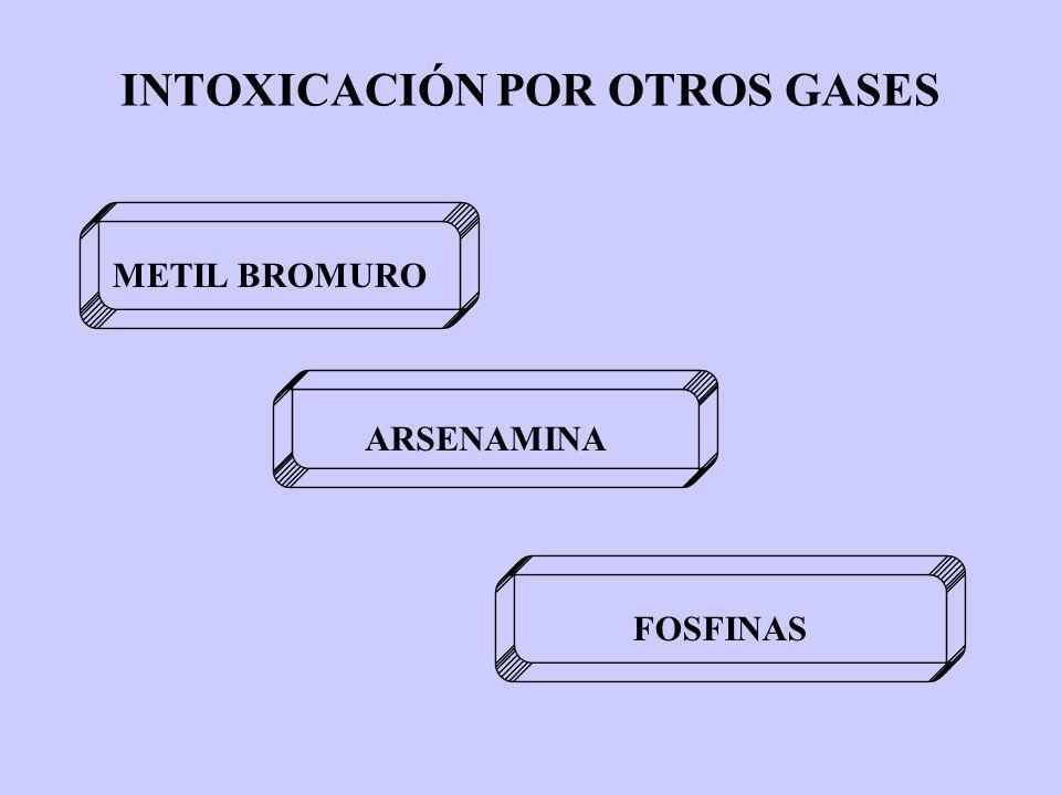 INTOXICACIÓN POR OTROS GASES METIL BROMURO ARSENAMINA FOSFINAS