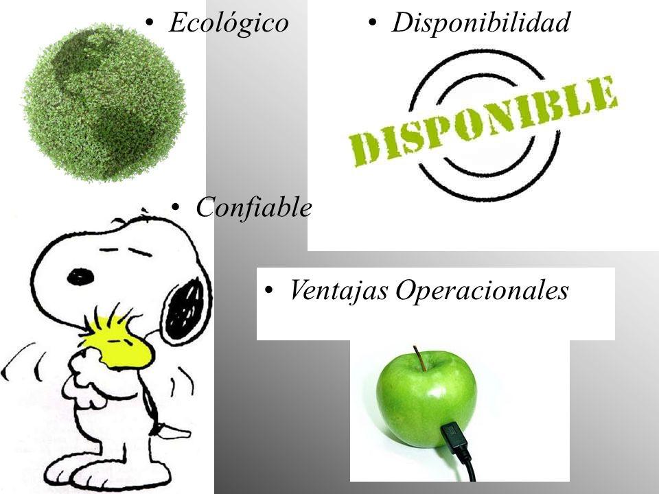 Ecológico Confiable Ventajas Operacionales Disponibilidad