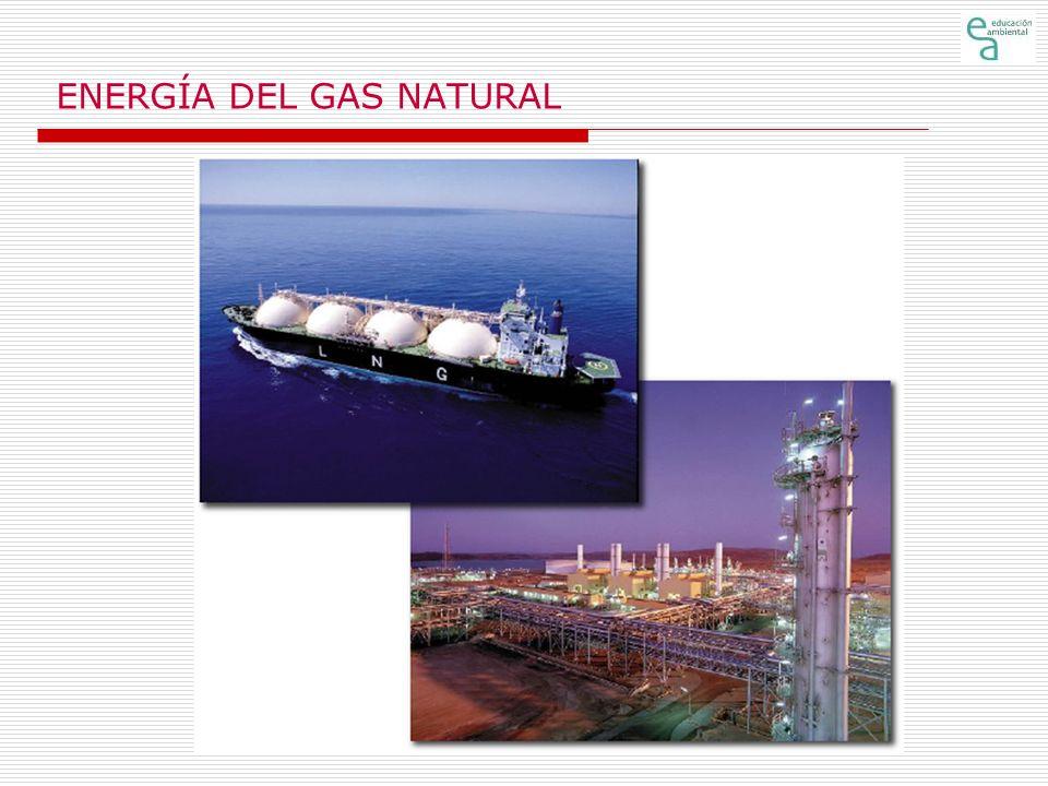 ENERGÍA DEL GAS NATURAL Origen (1) El gas, al igual que el petróleo, se forma a partir de restos de animales, plantas y microorganismos que se depositan en el fondo del mar o en cuencas sedimentarias, y que posteriormente son enterrados y sometidos a altas presiones.