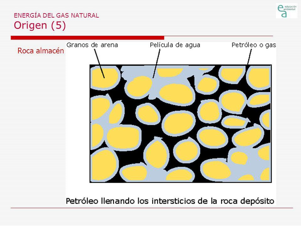 ENERGÍA DEL GAS NATURAL Origen (5) Roca almacén
