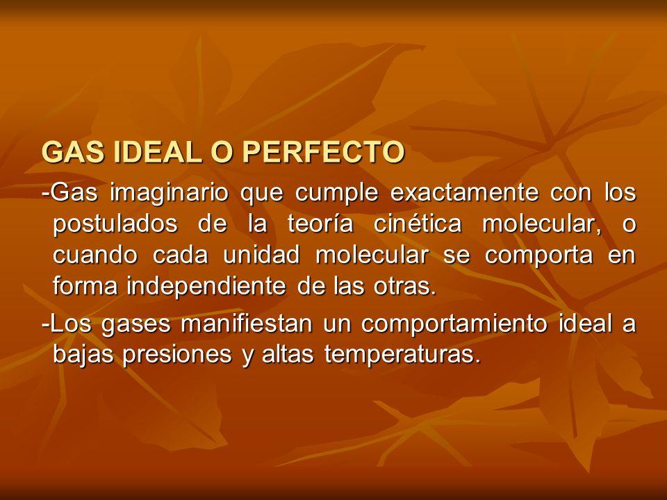 LEYES DE LOS GASES IDEALES -LEY DE BOYLE-MARIOTTE (Proceso isotérmico) T = cte T = cte V α 1/P V α 1/P P 1 V 1 = P 2 V 2 PV = K