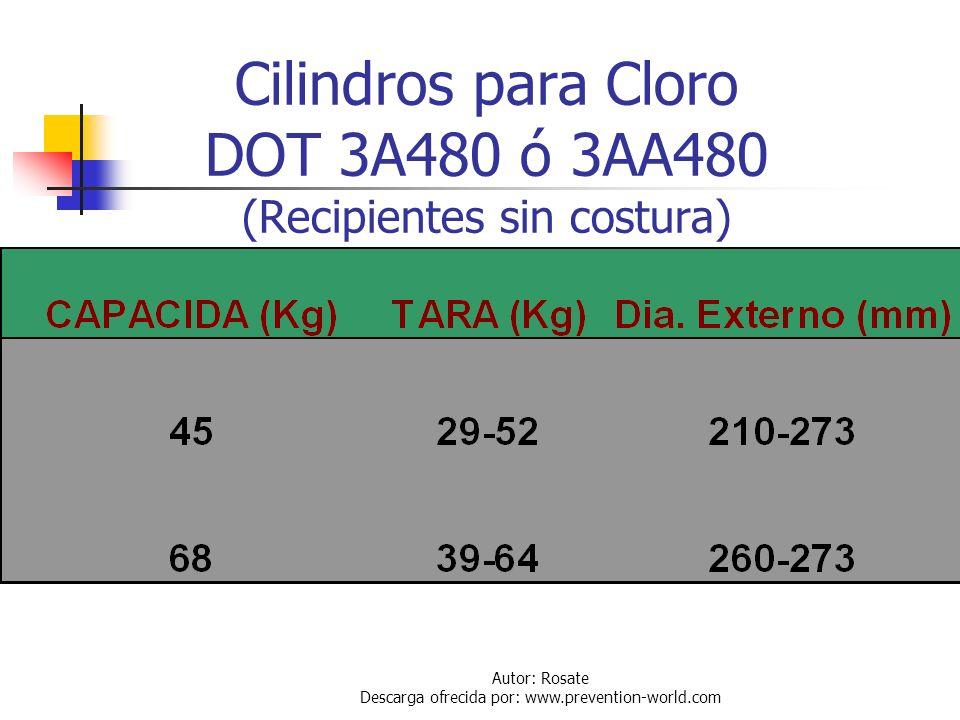 Autor: Rosate Descarga ofrecida por: www.prevention-world.com Cilindros y Contenedores de Tonelada Definición de recipientes de cloro en Venezuela: Co