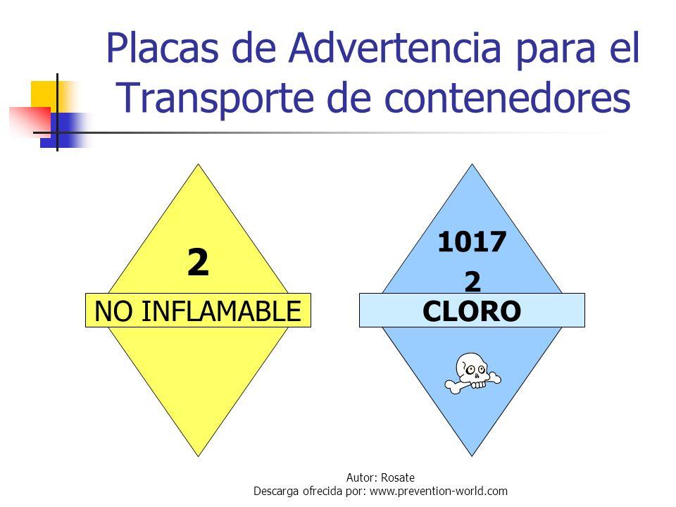 Autor: Rosate Descarga ofrecida por: www.prevention-world.com Transporte de Contenedores Los cilindros y contenedores de tonelada pueden ser trasporta
