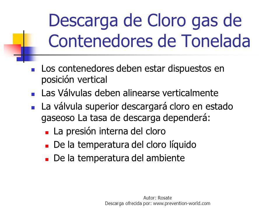Autor: Rosate Descarga ofrecida por: www.prevention-world.com Uso de los Contenedores Aspectos Generales Antes de conectar o desconectar un contenedor