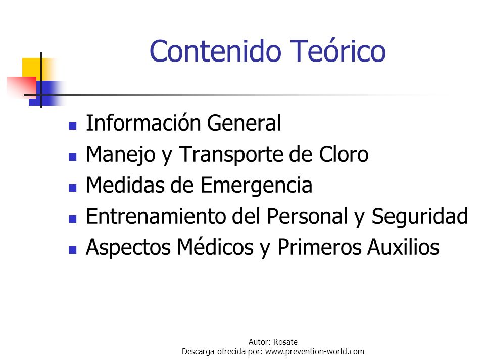Autor: Rosate Descarga ofrecida por: www.prevention-world.com Introducción El presente curso está orientado a mejorar las condiciones actuales de segu