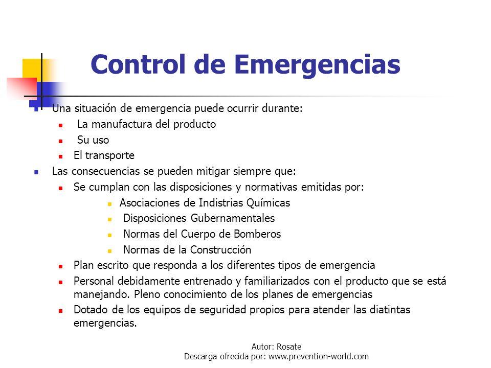 Autor: Rosate Descarga ofrecida por: www.prevention-world.com Transpote de Cloro a Granel El transporte de cloro a granel no se realiza en Venezuela L