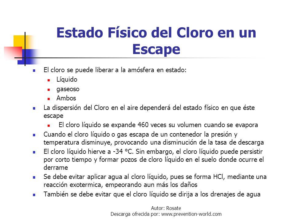 Autor: Rosate Descarga ofrecida por: www.prevention-world.com Área Afectada por Escape El tamaño y tiempo de exposición de un área efectada dependerá
