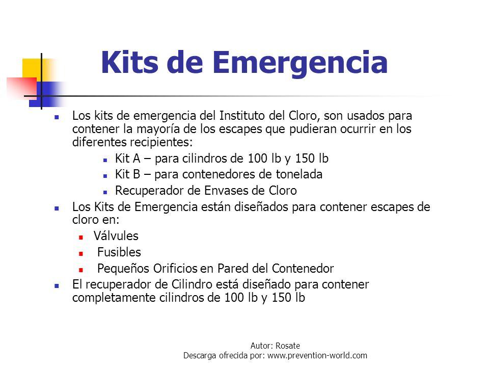 Autor: Rosate Descarga ofrecida por: www.prevention-world.com Recomendación de Alcali para Absorción Sol. NaOH 20% Peso Sol. Na2CO3 10% Peso