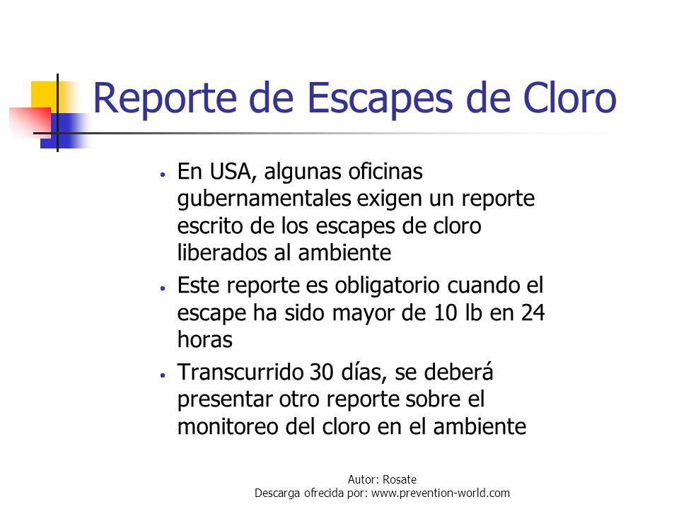 Autor: Rosate Descarga ofrecida por: www.prevention-world.com Kits de Emergencia Los kits de emergencia del Instituto del Cloro, son usados para conte