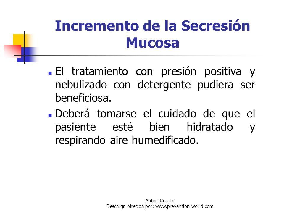 Autor: Rosate Descarga ofrecida por: www.prevention-world.com Broncoespasmo Sistemáticamente: Administrar broncodilatadores por vía de inyección subcu