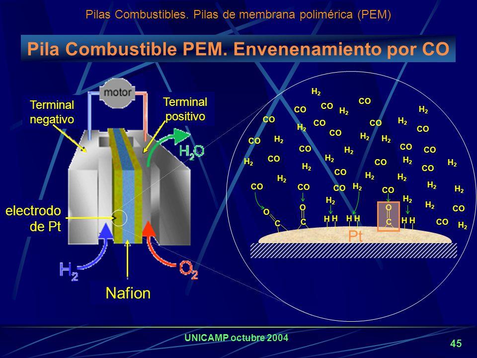 UNICAMP octubre 2004 44 Predicciones: Los combustible fósiles seguirán proveyendo la mayor parte de la energía mundial, Por condicionamientos ambienta