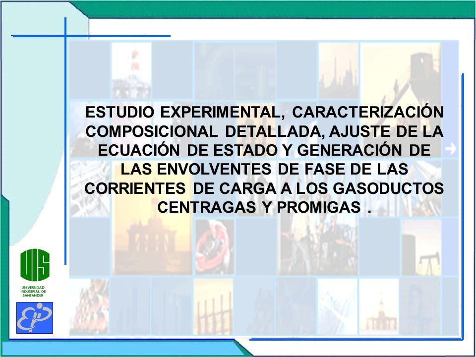 ESTUDIO EXPERIMENTAL, CARACTERIZACIÓN COMPOSICIONAL DETALLADA, AJUSTE DE LA ECUACIÓN DE ESTADO Y GENERACIÓN DE LAS ENVOLVENTES DE FASE DE LAS CORRIENT