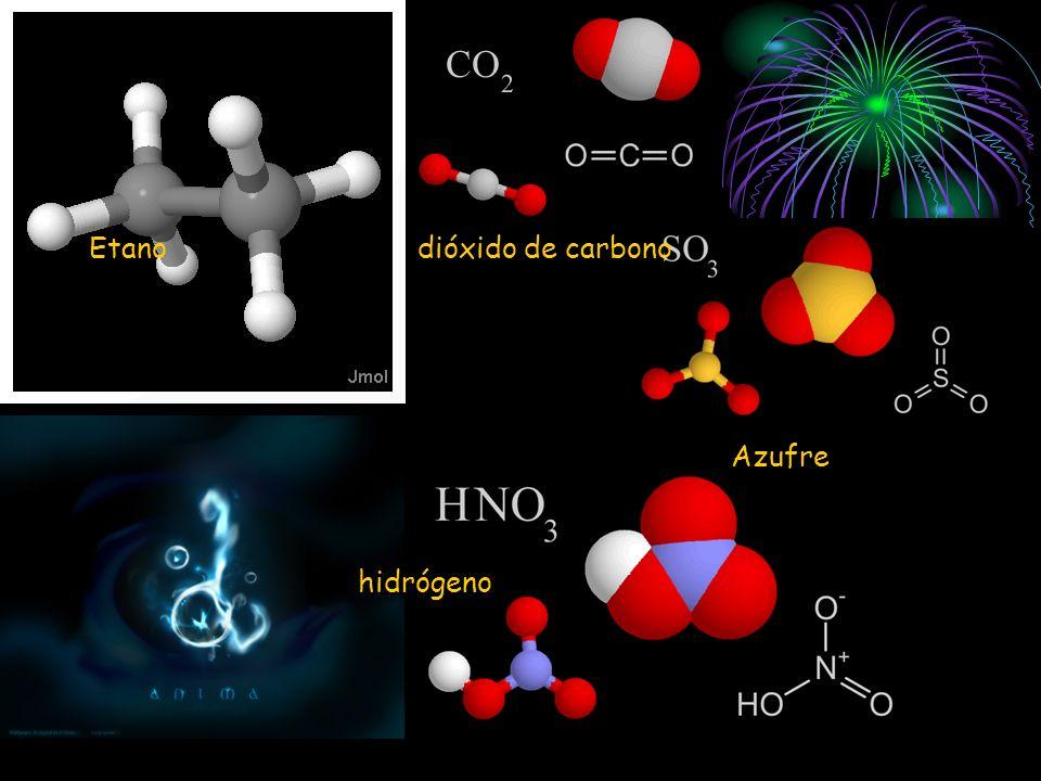 Etano dióxido de carbono Azufre hidrógeno