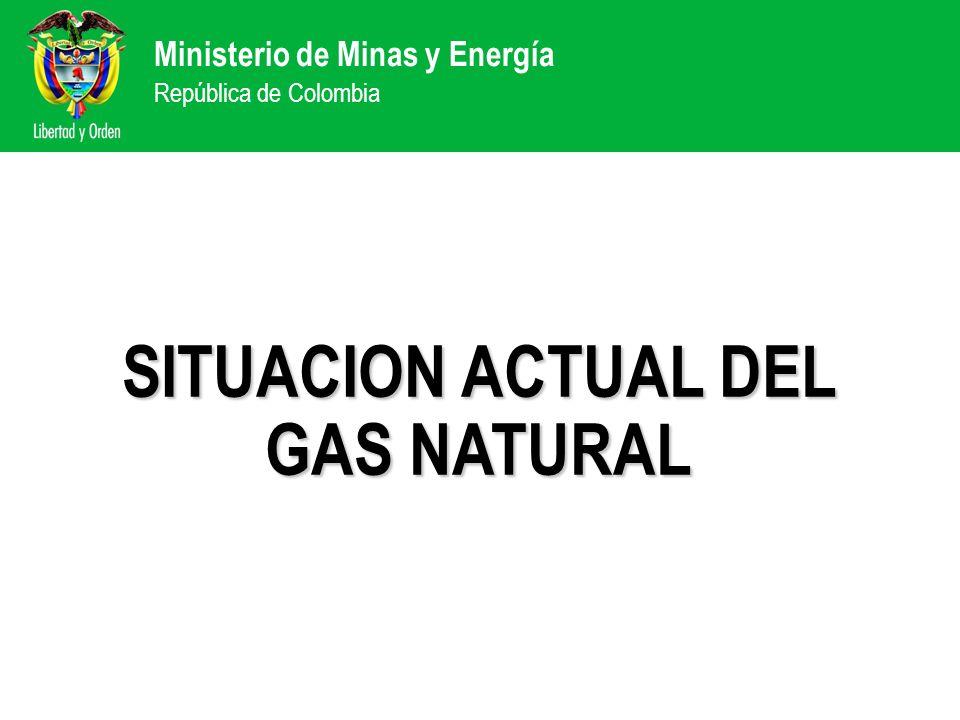 Ministerio de Minas y Energía República de Colombia SITUACION ACTUAL DEL GAS NATURAL