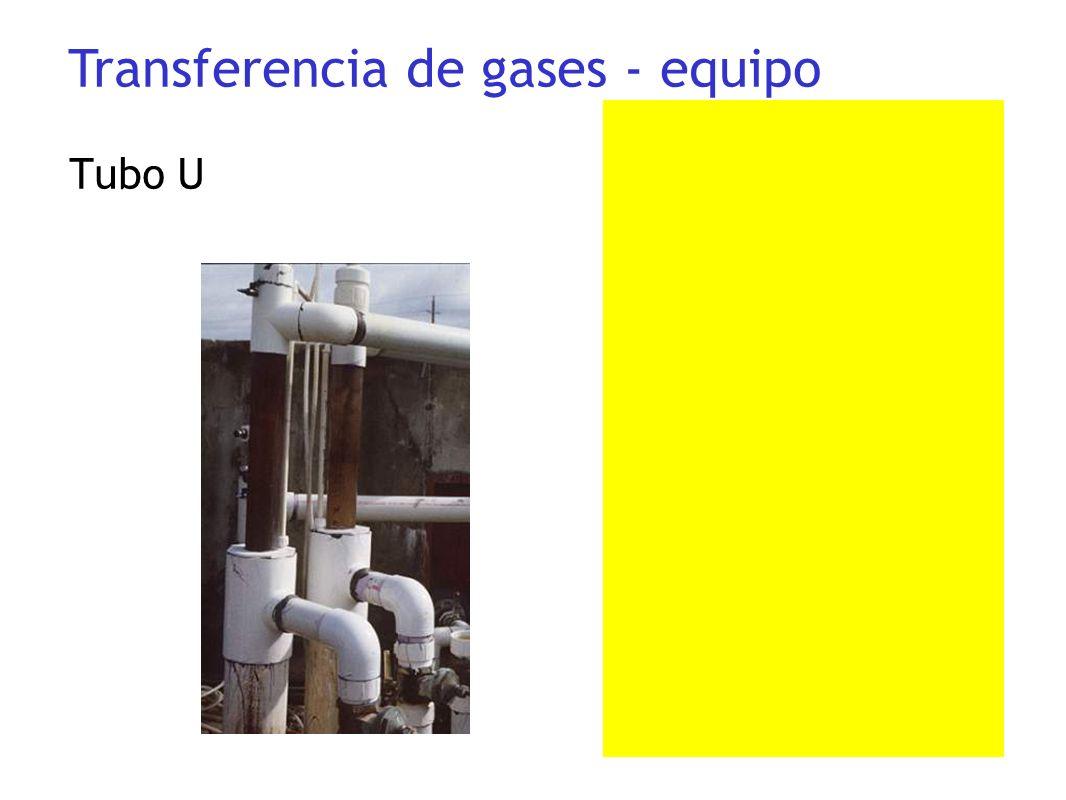 Tubo U Transferencia de gases - equipo