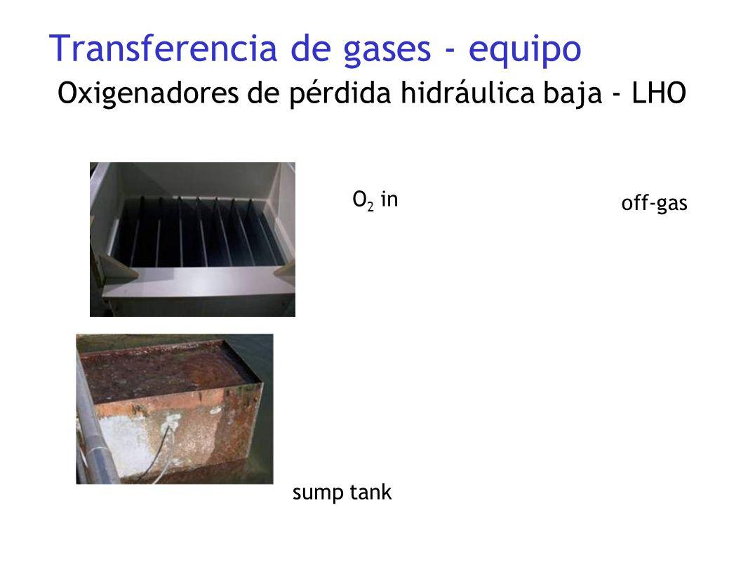 sump tank O 2 in off-gas Oxigenadores de pérdida hidráulica baja - LHO Transferencia de gases - equipo