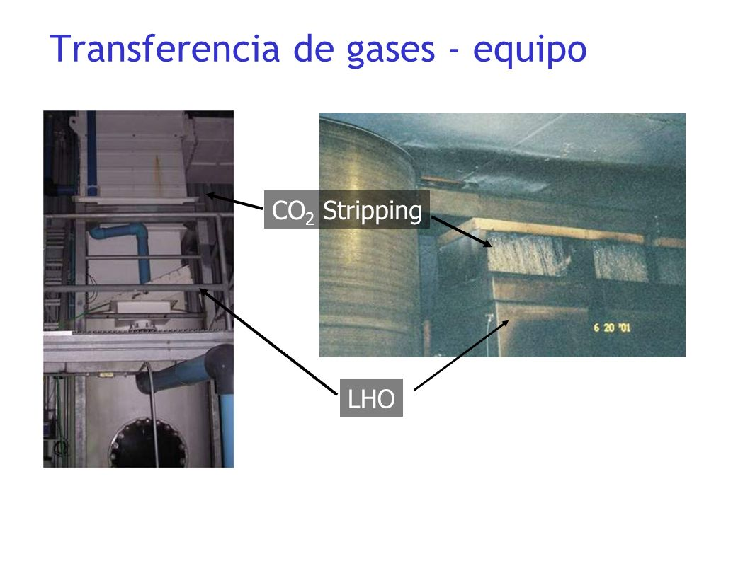 LHO CO 2 Stripping Transferencia de gases - equipo