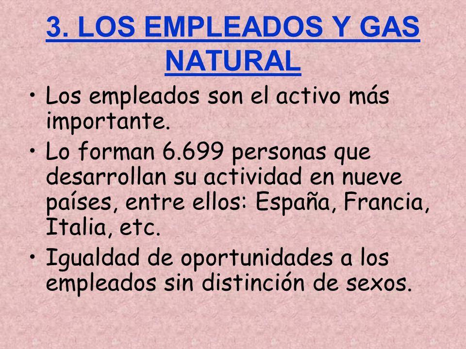 3. LOS EMPLEADOS Y GAS NATURAL Los empleados son el activo más importante.