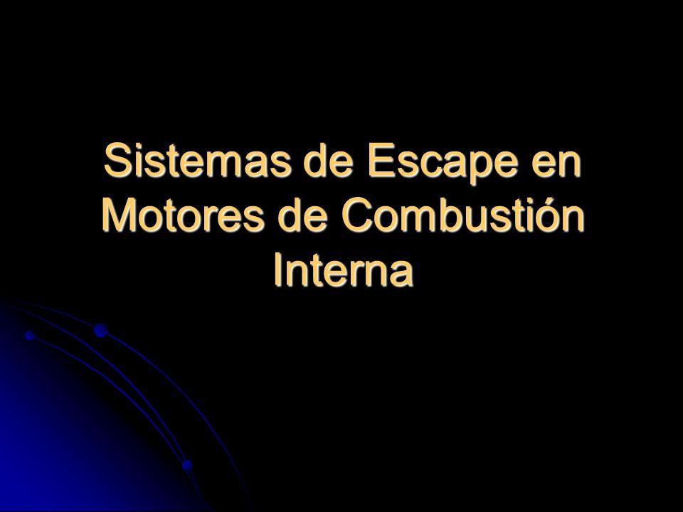 Sistemas de Escape en Motores de Combustión Interna