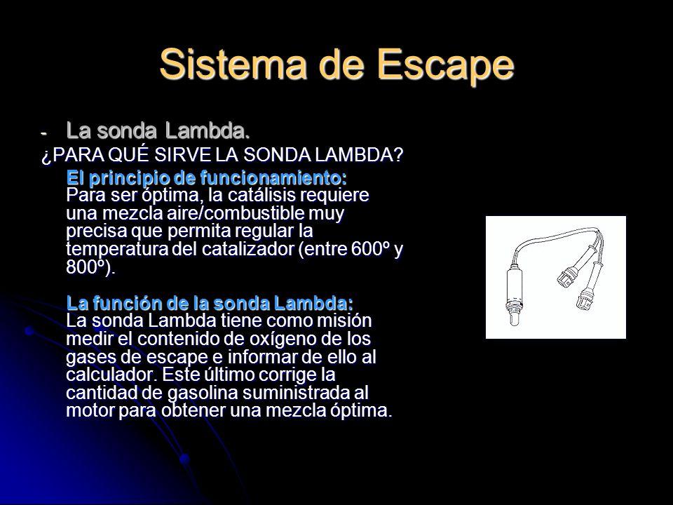 Sistema de Escape - La sonda Lambda.¿PARA QUÉ SIRVE LA SONDA LAMBDA.