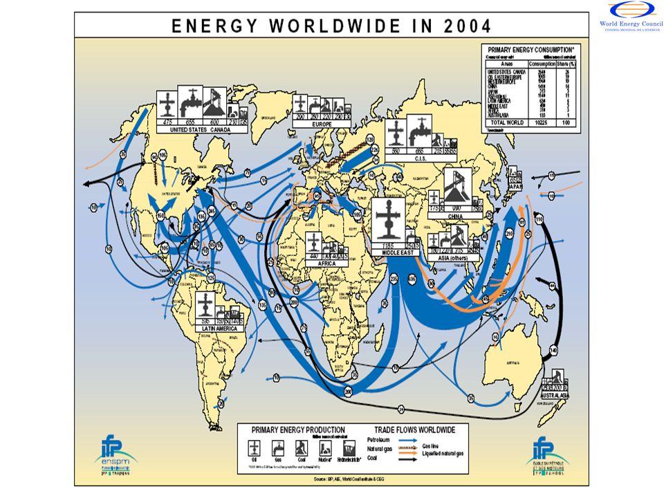 RESERVAS PROBADAS DE GAS NATURAL (2008) Fuente: British Petroleum Statistical Review 2009.