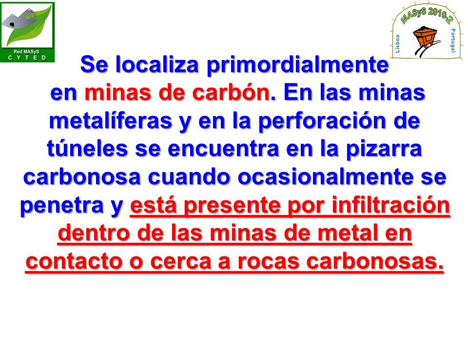 Se localiza primordialmente en minas de carbón.
