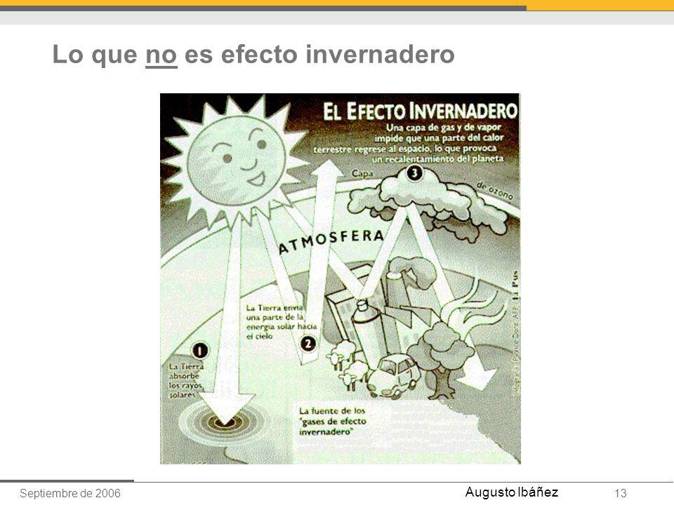 Septiembre de 200613 Augusto Ibáñez Lo que no es efecto invernadero