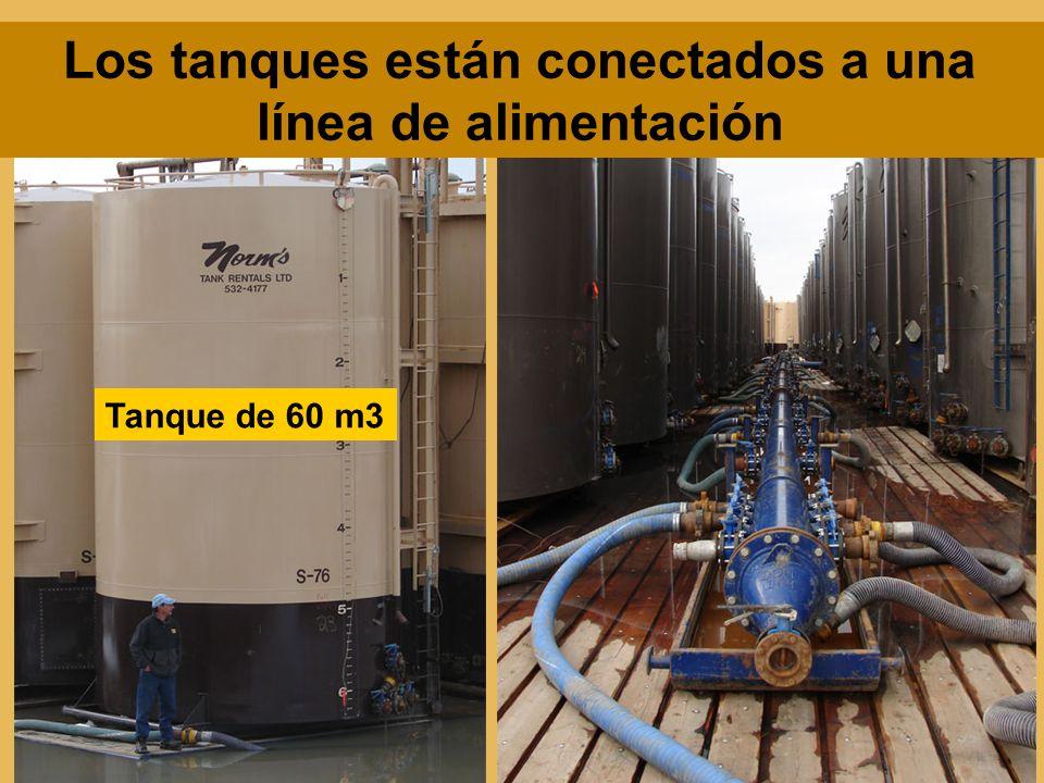 Tanque de 60 m3 Los tanques están conectados a una línea de alimentación