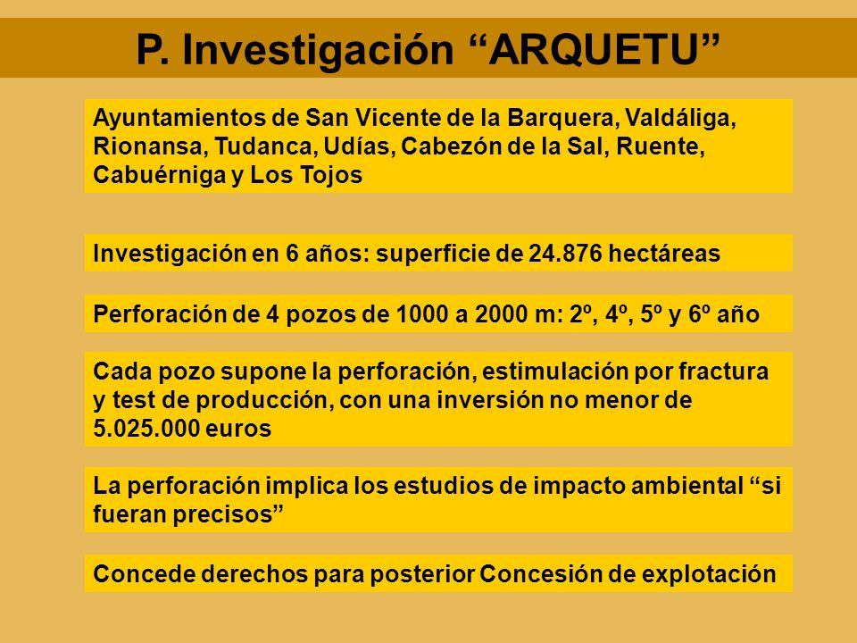 P. Investigación ARQUETU Investigación en 6 años: superficie de 24.876 hectáreas Ayuntamientos de San Vicente de la Barquera, Valdáliga, Rionansa, Tud