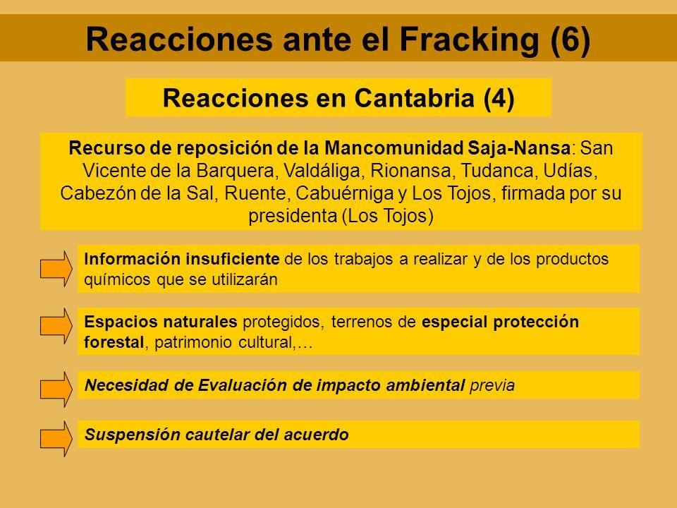 Reacciones en Cantabria (4) Recurso de reposición de la Mancomunidad Saja-Nansa: San Vicente de la Barquera, Valdáliga, Rionansa, Tudanca, Udías, Cabe