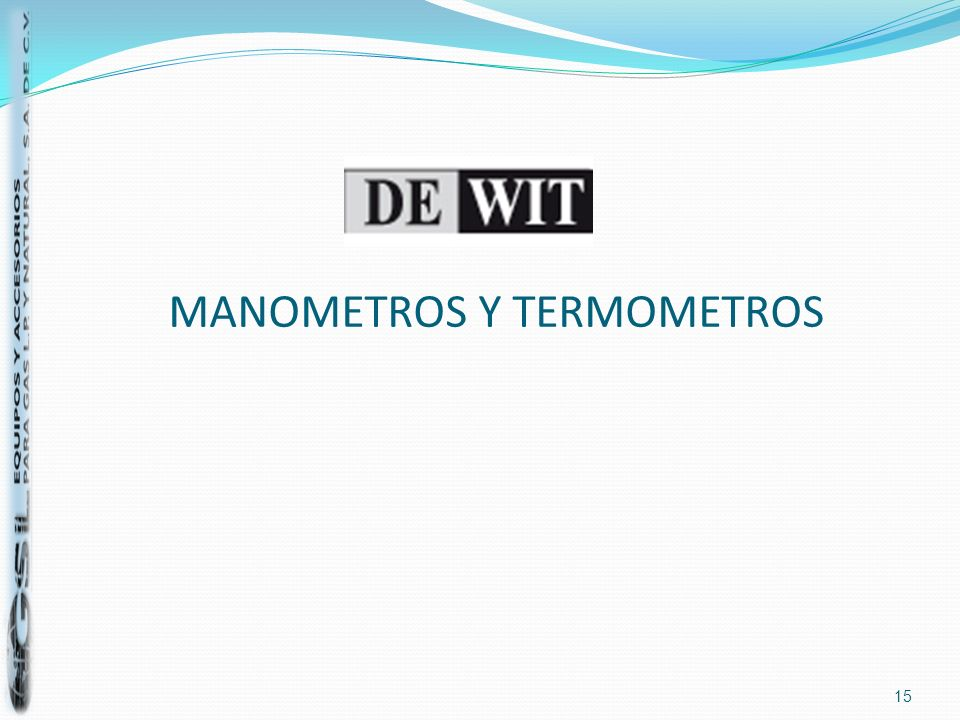 MANOMETROS Y TERMOMETROS 15