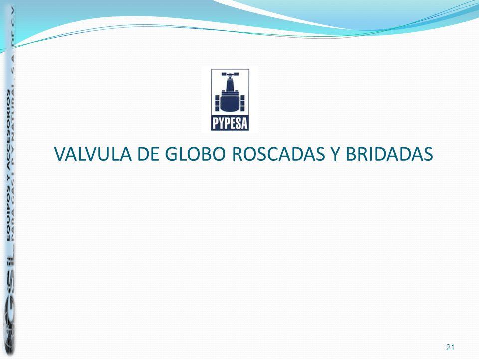 VALVULA DE GLOBO ROSCADAS Y BRIDADAS 21