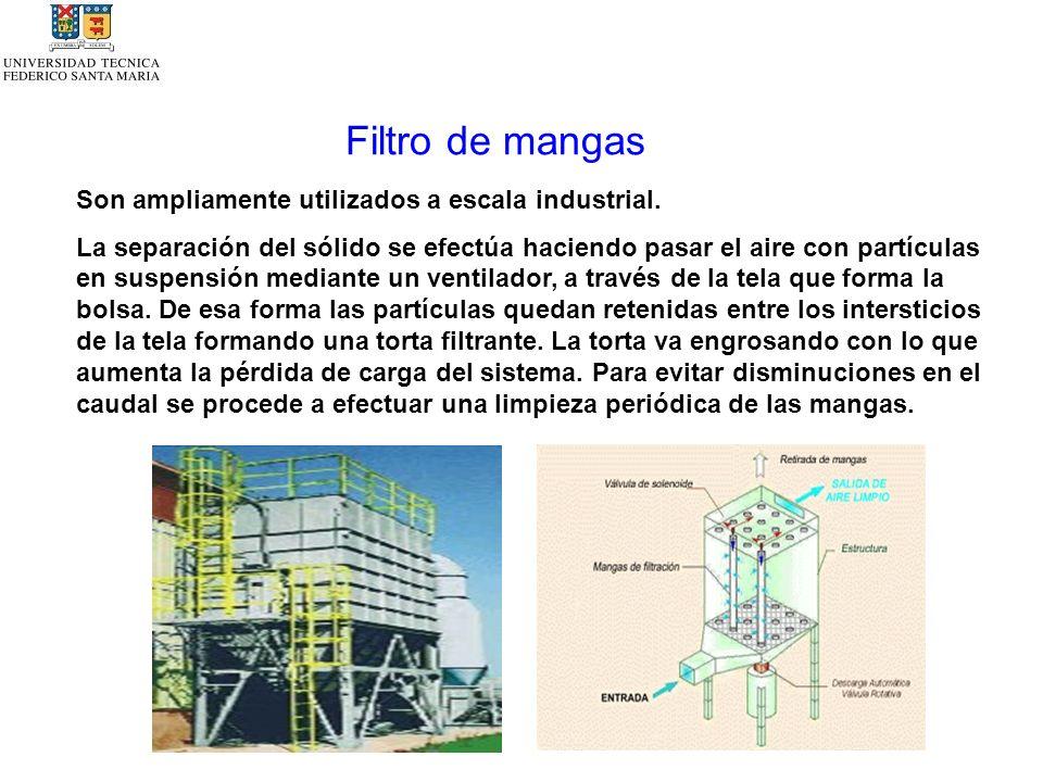 Filtro de mangas Son ampliamente utilizados a escala industrial.