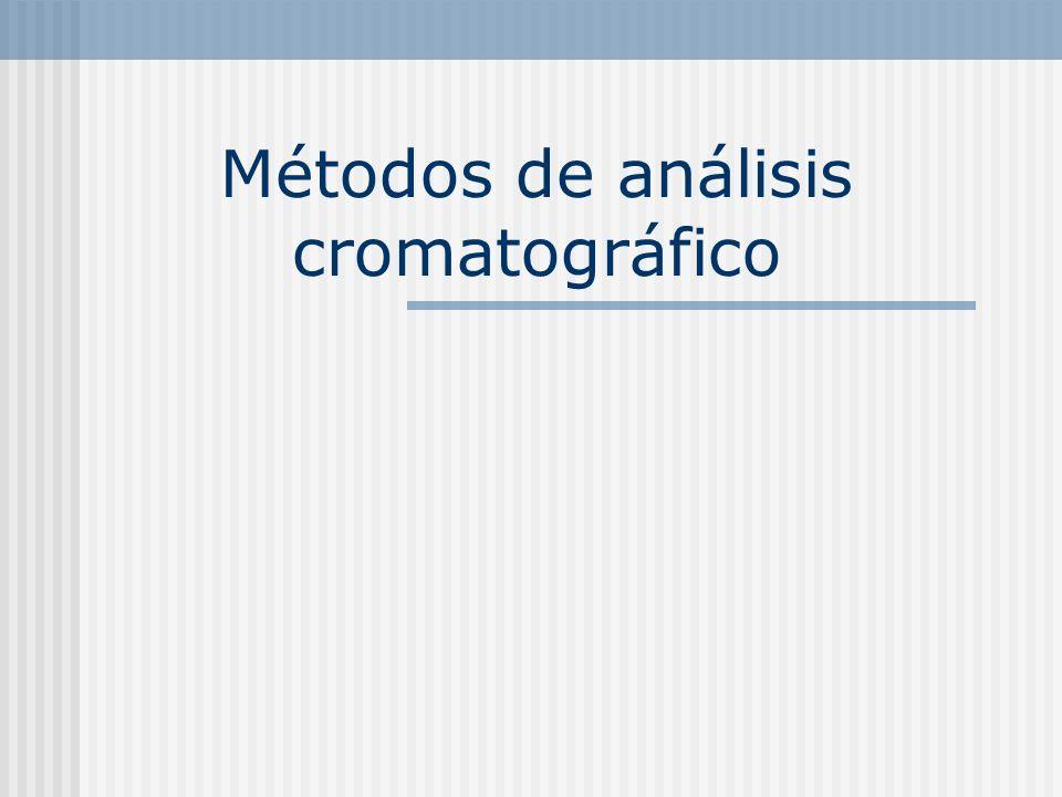 Métodos de análisis cromatográfico