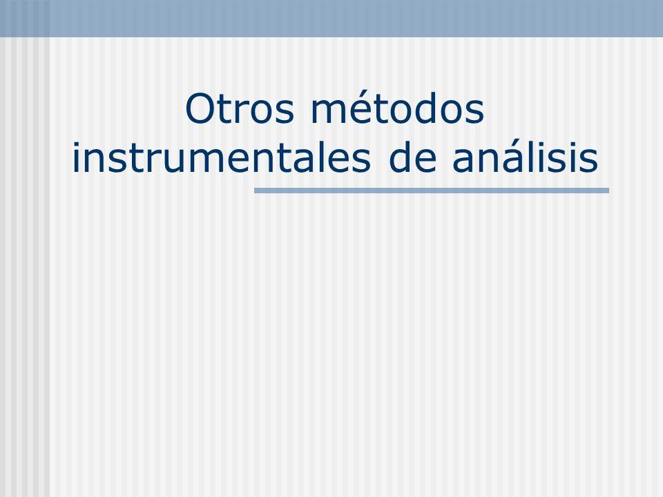 Otros métodos instrumentales de análisis